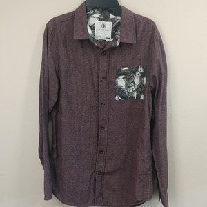 ON THE BYAS long sleeve button down maroon color S